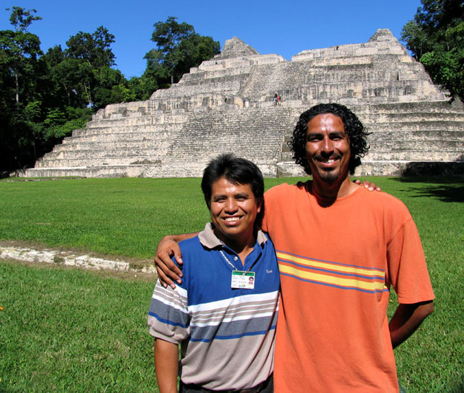 Caracol Ruins in the Belize back country, tour guides Hector Bol  &  Jorge de Leon.