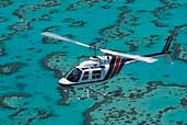 Helicopter transfers to Heron Island.