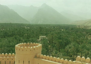 Nakhl Fort, one of 500 ancient forts in Oman.