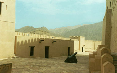 Nakhl Fort, best of the old Oman forts -- great day tour.