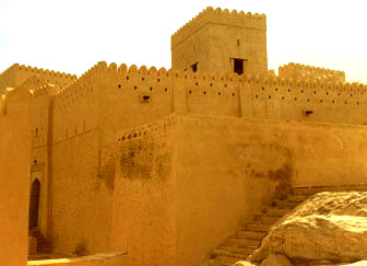 Oman forts: Nakhl Fort is one stellar day tour.