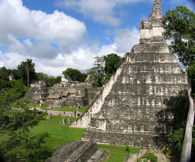 Tikal Ruins, Central Plaza, Belize Interior eco-tours with Windy Hill Resort, San Ignacio.