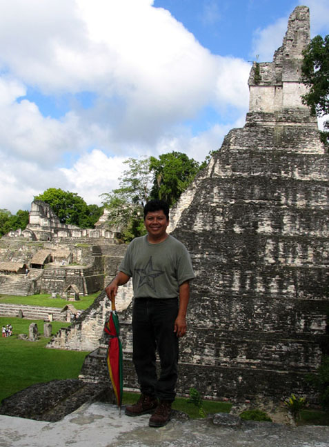 Hugo Estrada, nationally respected expert on the Tikal Ruins of Guatemala.